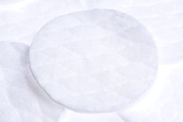 Cosmetical cotton pad disks close-up