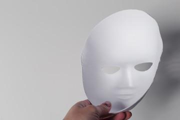 white mask close up