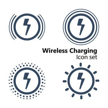 Wireless Charging Icon set