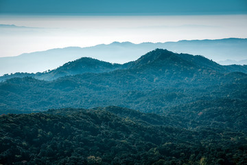 Landscapes Mountain View from Kew Mae Pan , Doi Inthanon National Park , Thailand