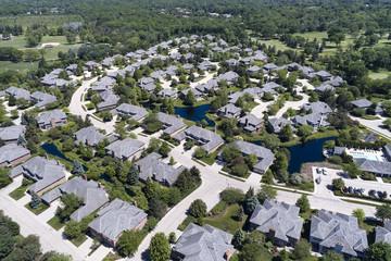 Neighborhood Housing Complex Aerial