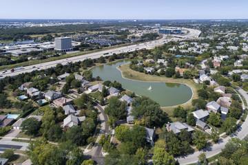 Neighborhood and Highway Aerial