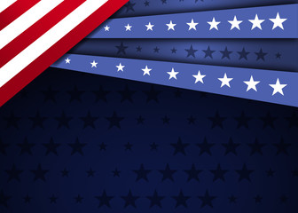 American Flag Design. American background.