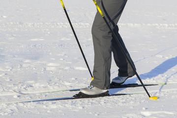 skiing legs, skiing closeup, feet