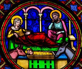 Fototapete - Nativity Scene - Bayeux Cathedral