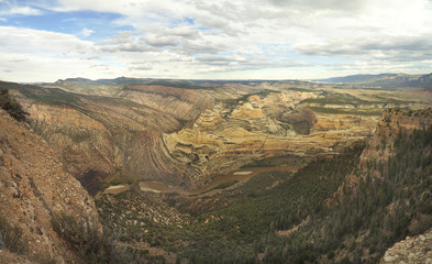 Panorama of the Canyon Formed by the Green River Dinosaur National Monument