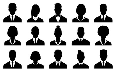 Business avatars , profile icons set