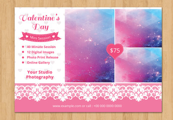 Photography Studio Valentine's Day Special Flyer 2