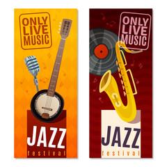 Jazz Festival Vertical Banners