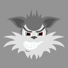 flat icon on theme evil animal coyote