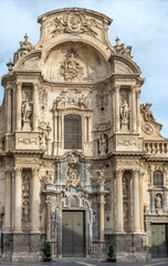 Cathedral, Murcia, Spain. December 17, 2017