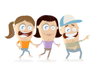 group of happy teens clipart