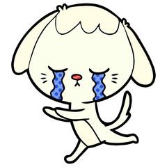 cartoon crying dog