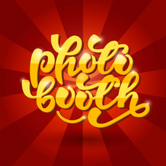Photo Booth Lettering Banner. Vector illustration.