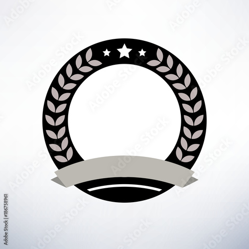 rounded retro badge template vector illustration stock image and