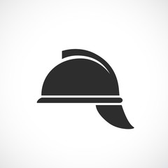 Retro fireman helmet vector icon