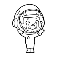 cartoon crying astronaut