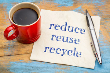 Reduce, reuse, recycle - conservation concept