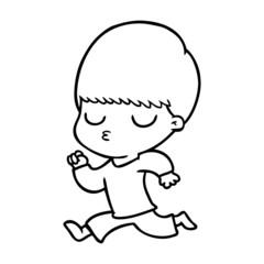 cartoon calm boy