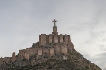 Foto auf Acrylglas Denkmal Monteagudo, Statue of Jesus near Murcia, Spain. December 17, 2017