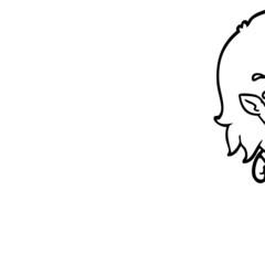 cartoon crying vampire girl