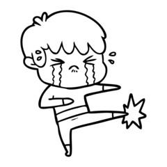 cartoon boy crying