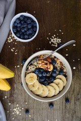 oatmeal with bluberry and banana