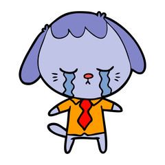 cartoon dog crying