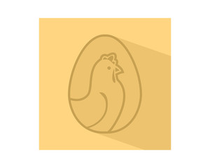 chicken egg icon hen poultry livestock animal image vector