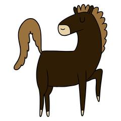 happy cartoon horse