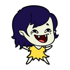 cartoon laughing vampire girl