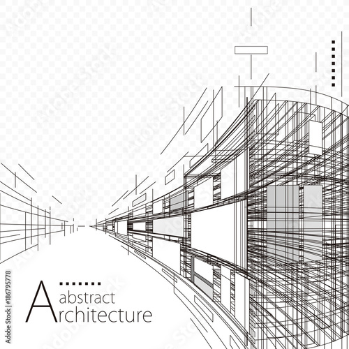 architecture construction perspective designing black and