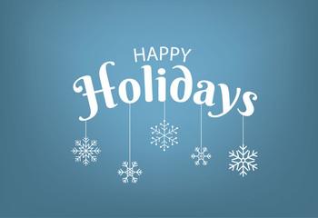 happy holidays with stars  illustration  on  background