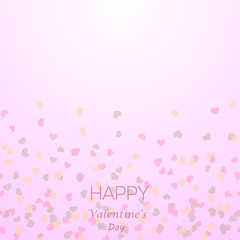 Seamless pattern with little red hearts for Valentine's Day. Vector