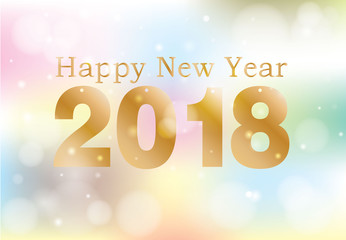 happy new year  vector illustration  on  background