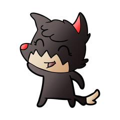 happy cartoon fox