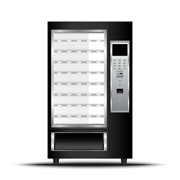 Vending machine of food and beverage automatic selling, Vector, Illustration