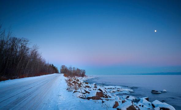 Sunset at Brighton Beach Duluth Minnesota