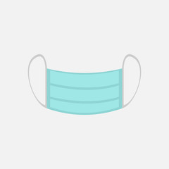 Simple Surgical Mask Vector Illustration Graphic