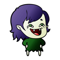 cartoon laughing vampire girl