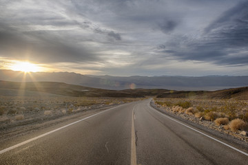 Highway 190 in Death Valley National Park
