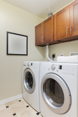 Modern laundry room with modern appliances