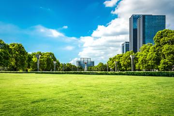 city with park - fototapety na wymiar