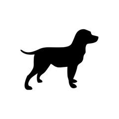 Dog silhouette, Vector illustration