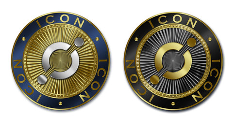 Cryptocurrency ICON coin
