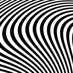 Abstract Black and White Modern Striped Background