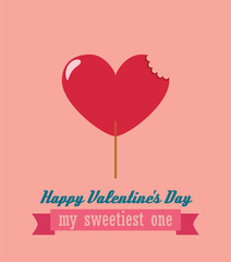 Happy Valentines day greeting card , background vector illustration