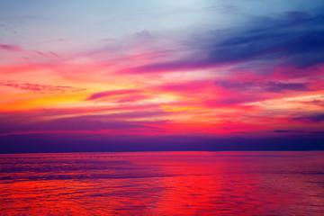 Scenic cloud sunset sky background, Nature composition cloudscape
