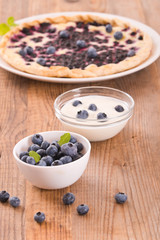 Blueberry tart.