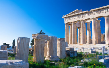 Fotomurales - Parthenon temple on the Acropolis in Athens, Greece